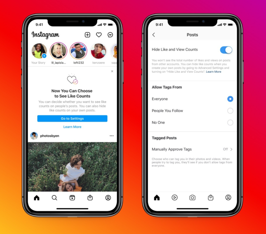 Instagram and Facebook now let users hide like counts