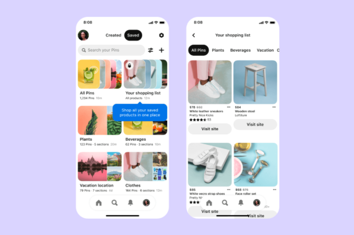 Pinterest adds new shopping and merchant tools