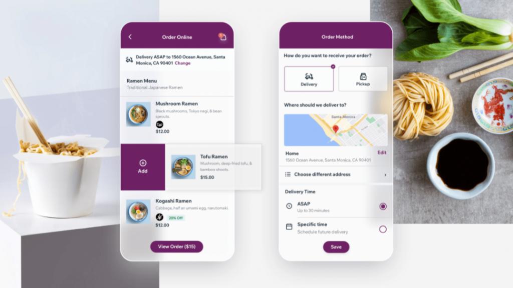 mobile Dine app